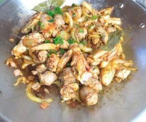 Паэлья с курицей и овощами - фото шаг 4