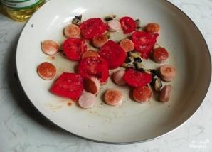 Омлет с грибами и помидорами - фото шаг 3