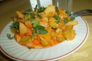 Овощное рагу в казане - фото шаг 4