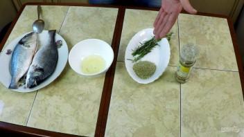 Дорадо в лимонном соке и розмарине (лёгкая прожарка) - фото шаг 1