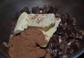 Шоколадные кексы в формочках - фото шаг 1