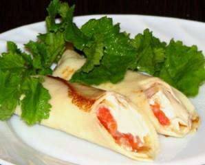 Блинчики с рыбой и сыром - фото шаг 6