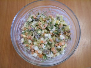 Салат с картошкой и грибами - фото шаг 6
