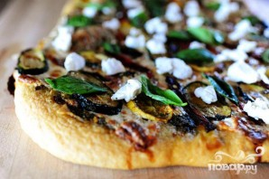 Вегетарианская пицца на гриле - фото шаг 5