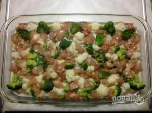 Запеканка из цветной капусты, брокколи и куриной грудки - фото шаг 5