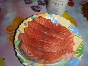 Семга с брокколи в духовке - фото шаг 2