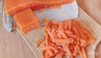 Салат с кальмарами и икрой - фото шаг 3