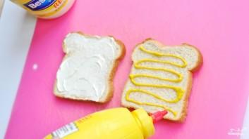 Бутерброд с ветчиной и помидорами - фото шаг 1