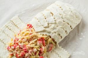 Сырный пирог с крабовыми палочками - фото шаг 5