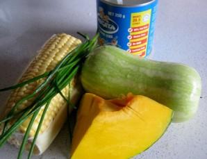 Суп из тыквы и кабачков - фото шаг 1