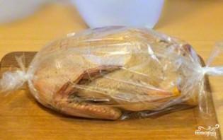Утка, фаршированная гречкой и грибами - фото шаг 12
