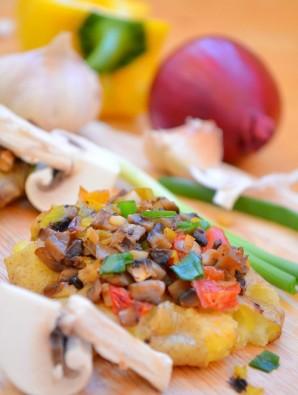 Картошка по-деревенски с грибами - фото шаг 8