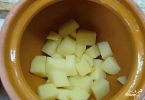 Семга с картошкой в горшочках - фото шаг 2