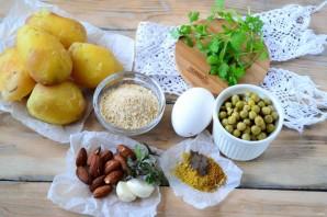 Марокканские оладьи из картофеля c чимичури - фото шаг 1