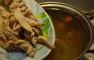 Суп с рисовой лапшой - фото шаг 3