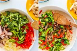 Рисовая лапша с курицей и овощами - фото шаг 3