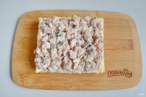 Закусочный бутербродный торт с рыбой - фото шаг 2