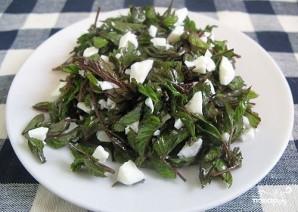 Салат из сныти - фото шаг 4