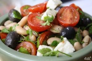 Салат греческий с фасолью - фото шаг 9