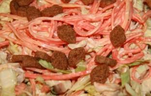 Салат с корейской морковкой и сухариками - фото шаг 6