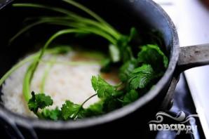 Тайский куриный суп с рисом - фото шаг 4