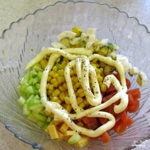 Салат с семгой соленой - фото шаг 7