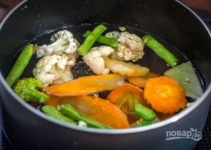 Овощной суп с лапшой - фото шаг 2
