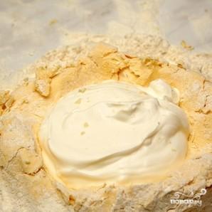 Пирог с сыром и мясом - фото шаг 2
