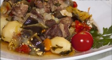 Баранина с овощами в казане - фото шаг 9