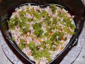 Салат с киви и ветчиной - фото шаг 4