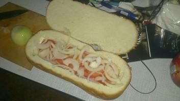 Мужской бутерброд - фото шаг 5
