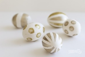 Яйца пасхальные золотые - фото шаг 5