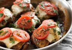 Куриные бедра с сыром и томатами - фото шаг 8