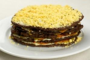 Печеночный торт с морковью - фото шаг 8