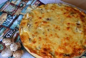 Лоранский пирог с курицей и грибами - фото шаг 9