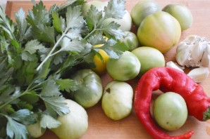 Острые помидоры на зиму - фото шаг 1