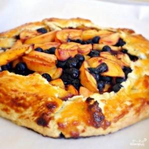 Пирог с черникой и персиками по-деревенски - фото шаг 18