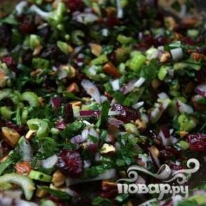 Салат с фарро, клюквой и сельдереем - фото шаг 3