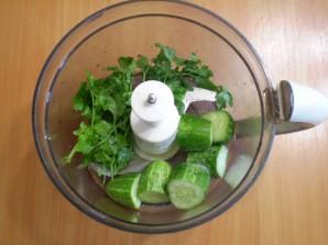 Зеленый коктейль с огурцом - фото шаг 3