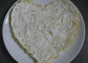 Салат в виде сердца - фото шаг 3
