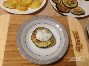 Баклажанно-картофельный мильфей - фото шаг 7