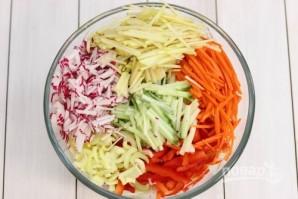 Салат из свежей капусты с огурцом - фото шаг 1