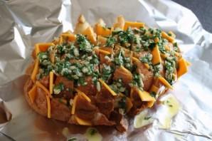 Сырный хлеб с зеленью - фото шаг 4