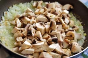 Вкусные блинчики с грибами и сыром - фото шаг 4