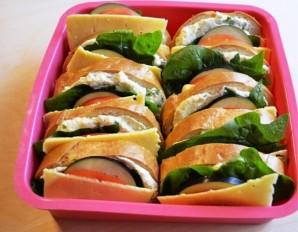 Бутерброды с баклажанами и помидором   - фото шаг 6