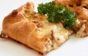 Пирог с грибами, сметаной и сыром - фото шаг 7