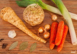 Овощной бульон простой - фото шаг 1