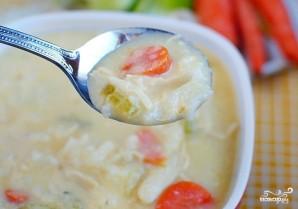 Сырный суп с курицей и рисом - фото шаг 7