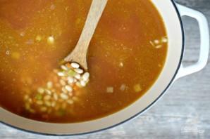Фасолевый суп с беконом - фото шаг 5