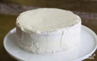 Бисквитный торт с фруктами и творожным кремом - фото шаг 15